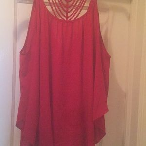 Tops - Red sleeveless top